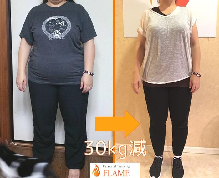 フレイムで30キロのダイエットに成功