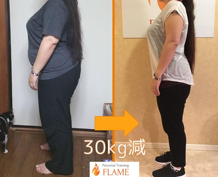 フレイムで30キロのダイエットに成功した体験談